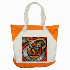 Beautiful Pattern Background Wave Chevron Waves Line Rainbow Art Accent Tote Bag