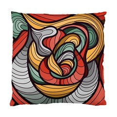 Beautiful Pattern Background Wave Chevron Waves Line Rainbow Art Standard Cushion Case (one Side)