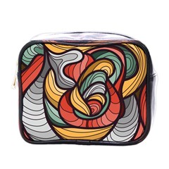 Beautiful Pattern Background Wave Chevron Waves Line Rainbow Art Mini Toiletries Bags
