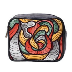 Beautiful Pattern Background Wave Chevron Waves Line Rainbow Art Mini Toiletries Bag 2 Side