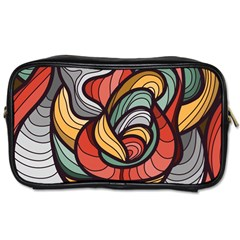 Beautiful Pattern Background Wave Chevron Waves Line Rainbow Art Toiletries Bags