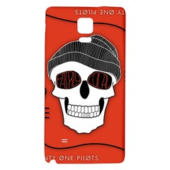 Poster Twenty One Pilots Skull Galaxy Note 4 Back Case