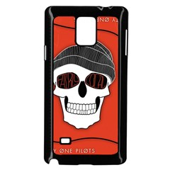 Poster Twenty One Pilots Skull Samsung Galaxy Note 4 Case (black)