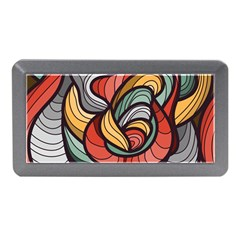 Beautiful Pattern Background Wave Chevron Waves Line Rainbow Art Memory Card Reader (mini)