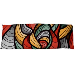 Beautiful Pattern Background Wave Chevron Waves Line Rainbow Art Body Pillow Case (dakimakura)