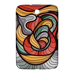 Beautiful Pattern Background Wave Chevron Waves Line Rainbow Art Samsung Galaxy Note 8 0 N5100 Hardshell Case