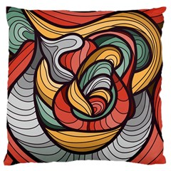 Beautiful Pattern Background Wave Chevron Waves Line Rainbow Art Large Flano Cushion Case (one Side)