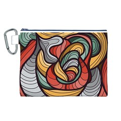 Beautiful Pattern Background Wave Chevron Waves Line Rainbow Art Canvas Cosmetic Bag (l)