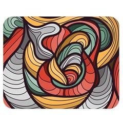 Beautiful Pattern Background Wave Chevron Waves Line Rainbow Art Double Sided Flano Blanket (medium)