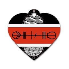 Poster Twenty One Pilots Dog Tag Heart (one Side)