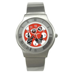 Twenty One Pilots Poster Contest Entry Stainless Steel Watch