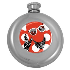 Twenty One Pilots Poster Contest Entry Round Hip Flask (5 Oz)