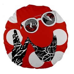Twenty One Pilots Poster Contest Entry Large 18  Premium Round Cushions