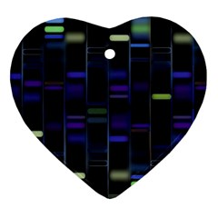 Biostatistics Line Blue Heart Ornament (two Sides)