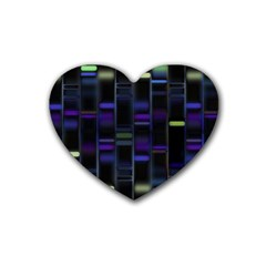 Biostatistics Line Blue Heart Coaster (4 Pack)