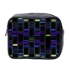 Biostatistics Line Blue Mini Toiletries Bag 2 Side