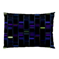Biostatistics Line Blue Pillow Case (two Sides)