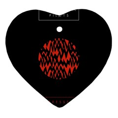Albums By Twenty One Pilots Stressed Out Ornament (heart)