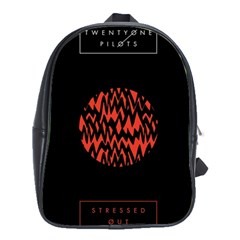 Albums By Twenty One Pilots Stressed Out School Bag (large)