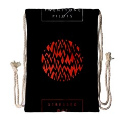 Albums By Twenty One Pilots Stressed Out Drawstring Bag (large)