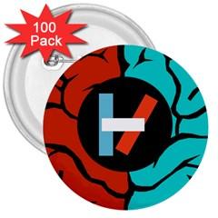 Twenty One Pilots 3  Buttons (100 Pack)