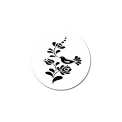 Birds Flower Rose Black Animals Golf Ball Marker (4 Pack)