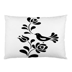 Birds Flower Rose Black Animals Pillow Case