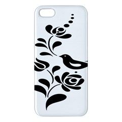 Birds Flower Rose Black Animals Iphone 5s/ Se Premium Hardshell Case