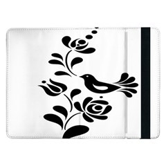 Birds Flower Rose Black Animals Samsung Galaxy Tab Pro 12 2  Flip Case