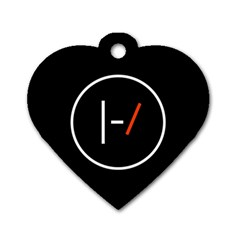 Twenty One Pilots Band Logo Dog Tag Heart (two Sides)