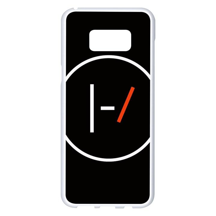 Twenty One Pilots Band Logo Samsung Galaxy S8 Plus White Seamless Case
