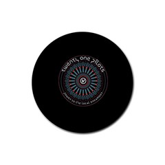 Twenty One Pilots Power To The Local Dreamder Rubber Round Coaster (4 Pack)