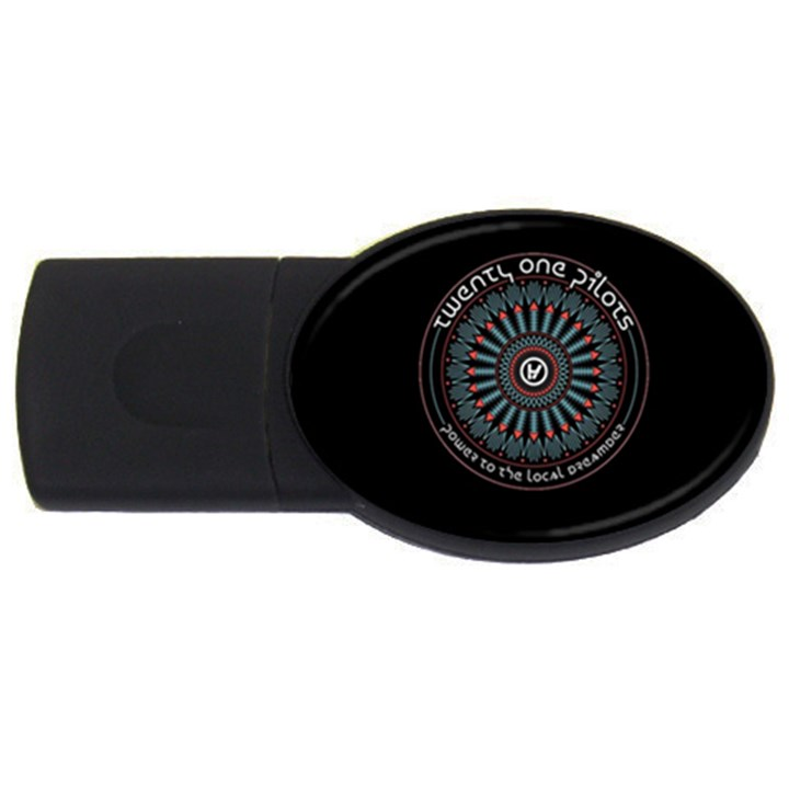 Twenty One Pilots Power To The Local Dreamder USB Flash Drive Oval (4 GB)