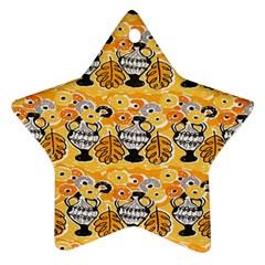Amfora Leaf Yellow Flower Ornament (star)