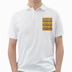 Amfora Leaf Yellow Flower Golf Shirts