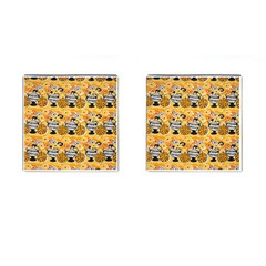 Amfora Leaf Yellow Flower Cufflinks (square)
