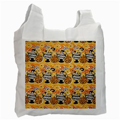 Amfora Leaf Yellow Flower Recycle Bag (one Side)