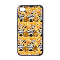 Amfora Leaf Yellow Flower Apple Iphone 4 Case (black)