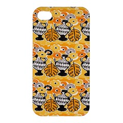Amfora Leaf Yellow Flower Apple Iphone 4/4s Premium Hardshell Case