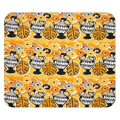 Amfora Leaf Yellow Flower Double Sided Flano Blanket (small)