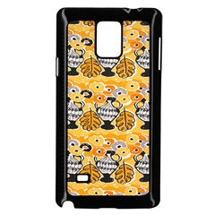 Amfora Leaf Yellow Flower Samsung Galaxy Note 4 Case (black)
