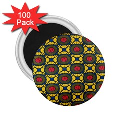African Textiles Patterns 2 25  Magnets (100 Pack)