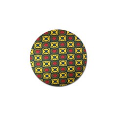 African Textiles Patterns Golf Ball Marker