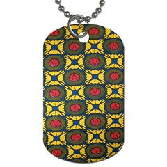 African Textiles Patterns Dog Tag (two Sides)