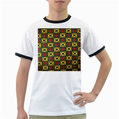 African Textiles Patterns Ringer T Shirts