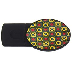 African Textiles Patterns Usb Flash Drive Oval (4 Gb)