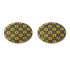 African Textiles Patterns Cufflinks (oval)