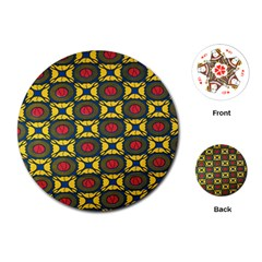 African Textiles Patterns Playing Cards (round)