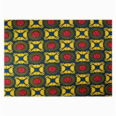 African Textiles Patterns Large Glasses Cloth (2 Side)
