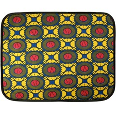 African Textiles Patterns Double Sided Fleece Blanket (mini)